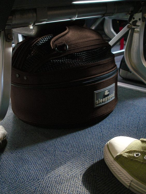 SleepyPod Mini Viewed Under An Airline Cabin Seat