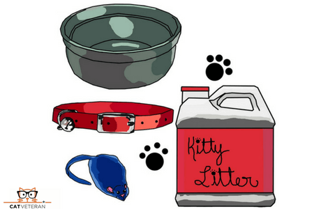 kitty litter paw collar icon cat veteran