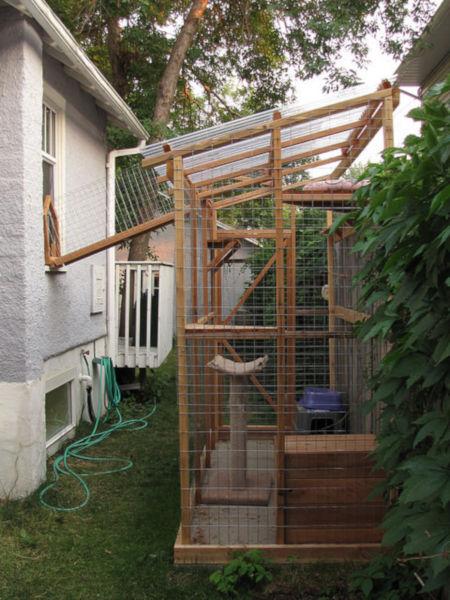 outdoor cat enclosure catio