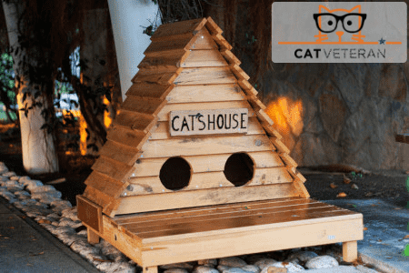 Small wooden cat's house