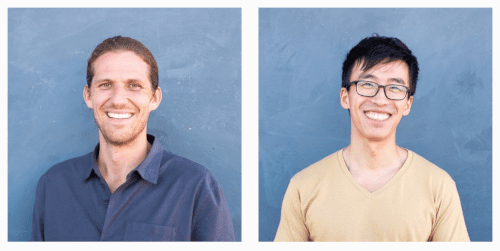 Zach and Wenzhe co-founders of nomnomnow